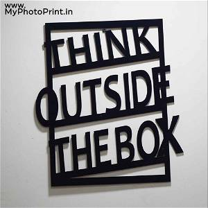 Think Out Side The Box 2.O Wooden Wall Decoration