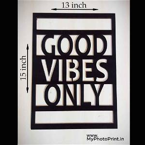 GOOD VIBES ONLY Wooden Wall Decoration