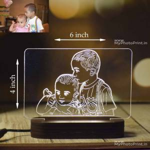 Personalized Photo Acrylic 3D illusion LED Lamp with Color Changing Led and Remote #1608
