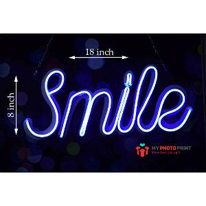 Neon Smile Led Neon Sign Decorative Lights Wall Decor