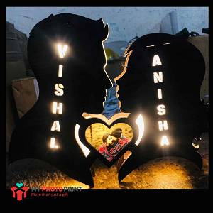 Customized Couple heart Name Board