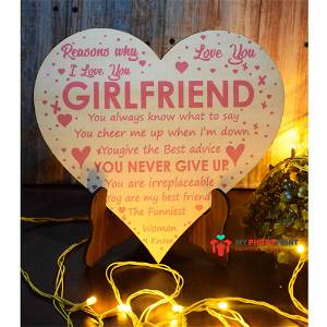Personalized Valentine's Day Wooden Table Top