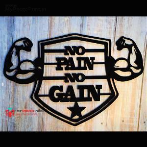 No Pain No Gain Wooden Wall Decoration