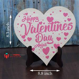 Personalized Happy Valentines Day Wooden Table Top