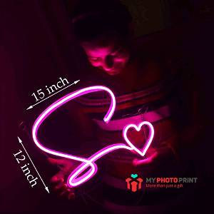 Neon Alphabetic Heart Led Neon Sign Decorative Lights Wall Decor