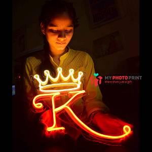 Custom Alphabetic Crown Led Neon Sign Decorative Lights Wall Decor