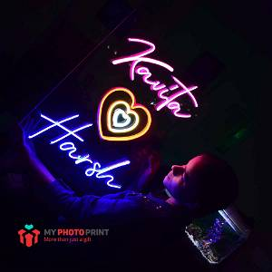Personalized Your Own names with Heart Led Neon Sign Decorative Lights Wall Decor