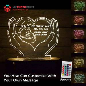 Personalized Mother Love Acrylic 3D illusion LED Lamp with Color Changing Led and Remote#1779