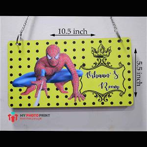 Personalized Spider Man Name Wooden Frame Wall Hanging