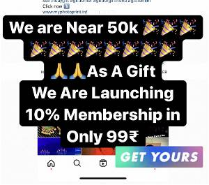 10% Membership For 1 Year at Discounted Price Only @ Rs 99 Only