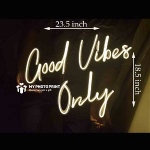 Neon Good Vibes Only Led Neon Sign Decorative Lights Wall Decor