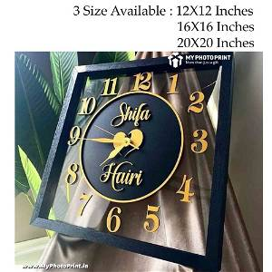 Personalized Names Wall Clock