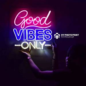 Neon Good Vibes Only 2.0 Led Neon Sign Decorative Lights Wall Decor