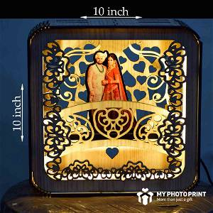 Personalized Couple Photo Wooden Table Top/Night lamp for Couples Boyfriend Girlfriend