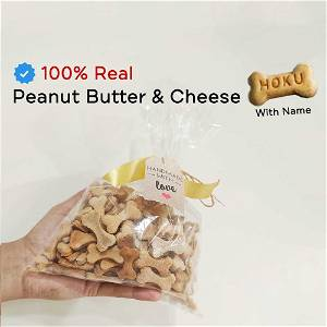 Home Made Peanut Butter & Cheese Dog Cookies/Treat With Your Dog Name On It 500 Grams