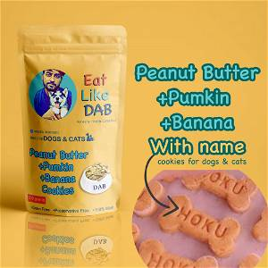 Home Made Peanut Butter+Pumkin+Banana Dog Cookies/Treat With Your Dog Name On It