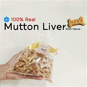 Home Made Mutton Liver Dog Cookies Treat With Your Dog Name On It 500 Grams