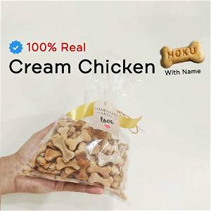 Home Made Cream Chicken Dog Cookies Treat With Your Dog Name On It 500 Grams