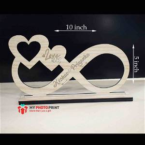 Personalized Couple Infinity Love Wooden Table Top