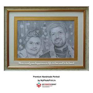 Customized Couple Royal Handmade Photo  3D Portrait Frame