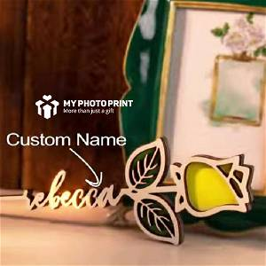 Customize Rose Wooden Name