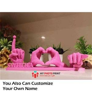 Customized I Love You Name Table Top Stand