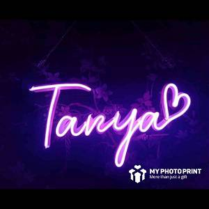 Custom Name With Heart Led Neon Sign Decorative Lights Wall Decor 2.0