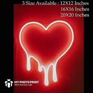 Love Melting Heart Led Neon Sign Decorative Lights Wall Decor