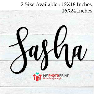 Customized Name Wooden Wall Decoration