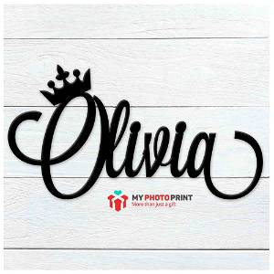 Customized Crown Name Wooden Wall Decoration