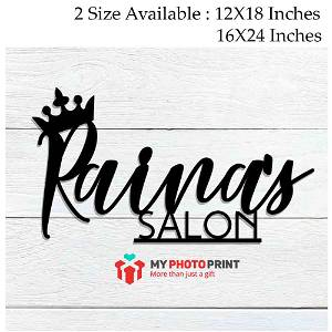 Customized Crown Double Name Wooden Wall Decoration