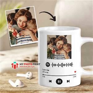 Customized Spotify Song Scanner Photo Mug