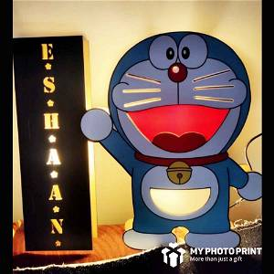 Customized Cartoon Character Led Wooden Name Board