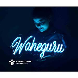 Neon Waheguru ji Neon Sign Decorative Lights Wall Decor