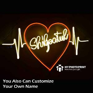 Customized Name Heartbeat Led Neon Sign Decorative Lights Wall Decor