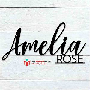 Customized Double Name Wooden Wall Decoration