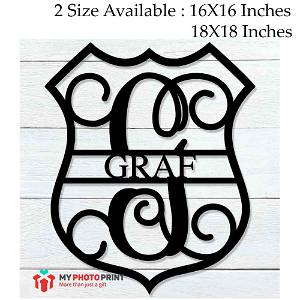 Customized Police Badge Name Wooden Wall Decoration