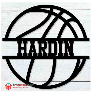 Customized Basketball Name Wooden Wall Decoration