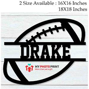 Customized Football Name Wooden Wall Decoration
