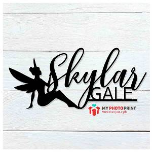Customized Fairy Double Name Wooden Wall Decoration