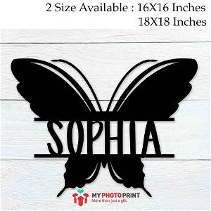 Customized Butterfly Name Wooden Wall Decoration