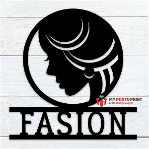 Customized Empowered Woman Name Wooden Wall Decoration