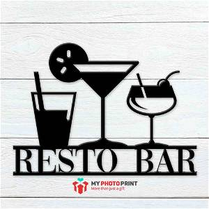 Customized Bar Name Wooden Wall Decoration