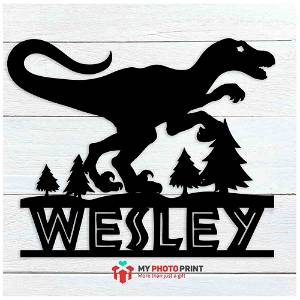 Customized Dinosaur Name Wooden Wall Decoration