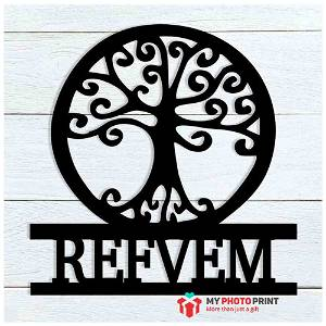 Customized Tree of Life Name Wooden Wall Decoration