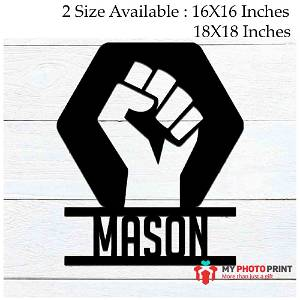 Customized Rise up Name Wooden Wall Decoration