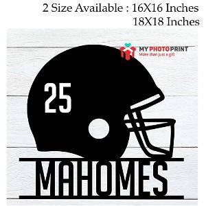 Customized Football Helmet Name Wooden Wall Decoration