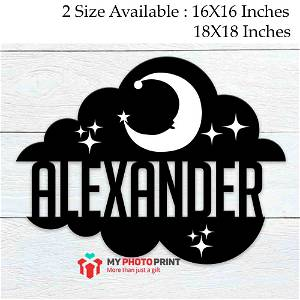 Customized Dreamy Cloud Name Wooden Wall Decoration