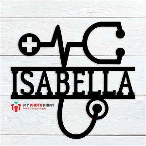 Customized Stethoscope Name Wooden Wall Decoration