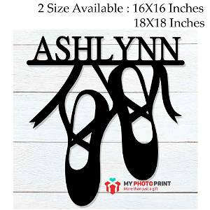 Customized Ballet Name Wooden Wall Decoration